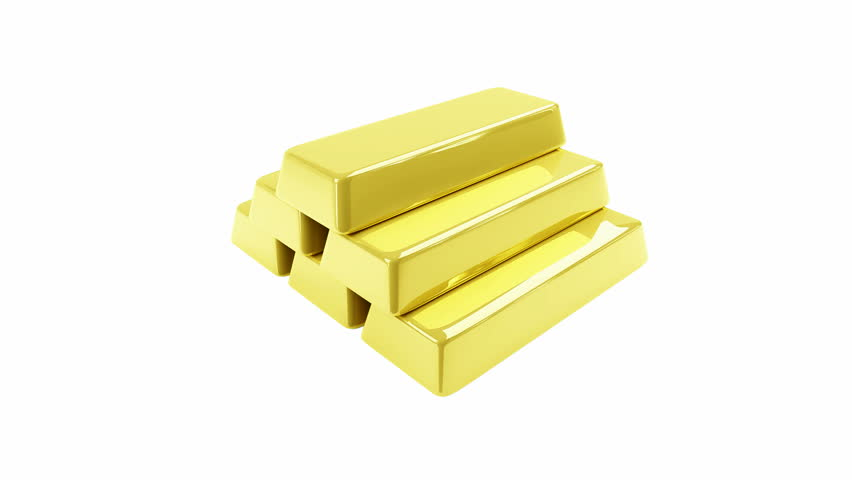 gold bars pyramid 3d animation High-definition, HD 1920 x 1080