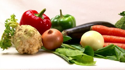 Vegetables, camera dolly, healthy eating, food.