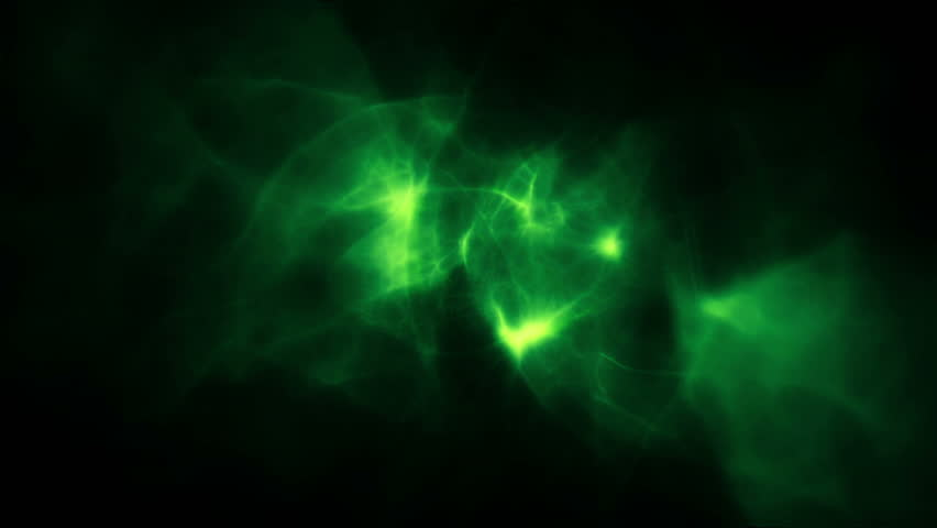 Abstract Green Smoke And Fire Background Loop Stock Footage Video ...
