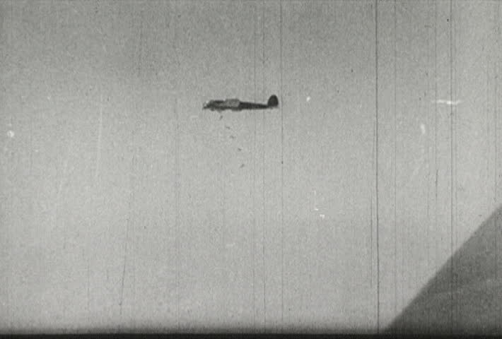 EUROPE - CIRCA 1942-1944: World War II, German Planes Drop Bombs
