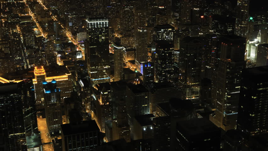 4K UltraHD Timelapse Night in Chicago's city center | Shutterstock HD Video #20121235
