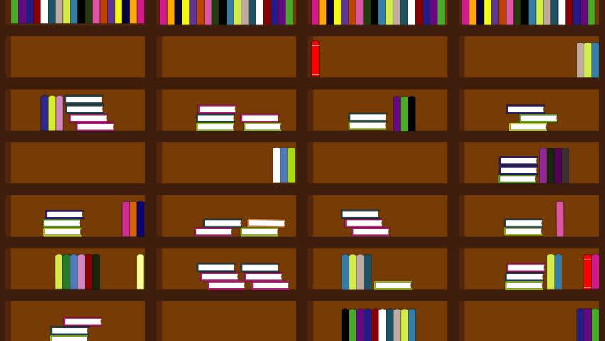 Bookshelf Full Of Books Animation Stock Footage Video 100 Royalty Free 20145565