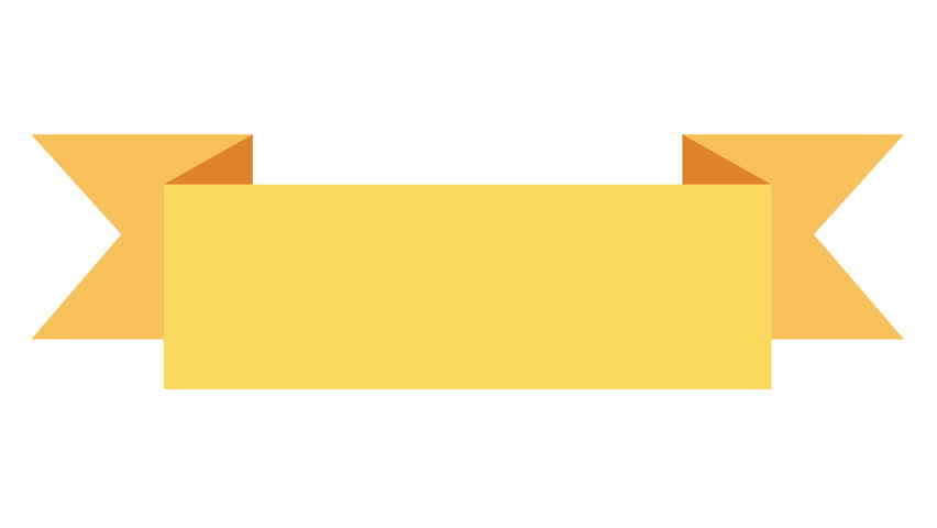 Animated Yellow Ribbon Banner On White Concept With Colored