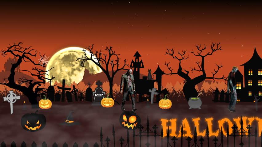 cartoon animation halloween scene with stock footage video 100 royalty free 20208445 shutterstock