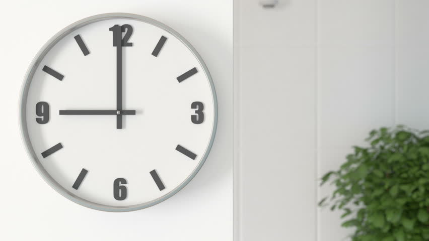 Office Clocks on white wall - timelapse  | Shutterstock HD Video #20265625