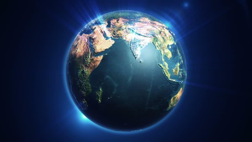 Rotating Earth Communication Technology Network World Map - World map satellite hd