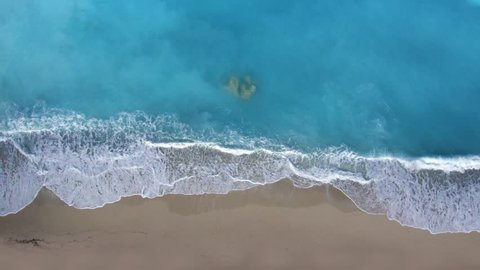 aerial view on the Greek beach of Kathisma in Lefkas island