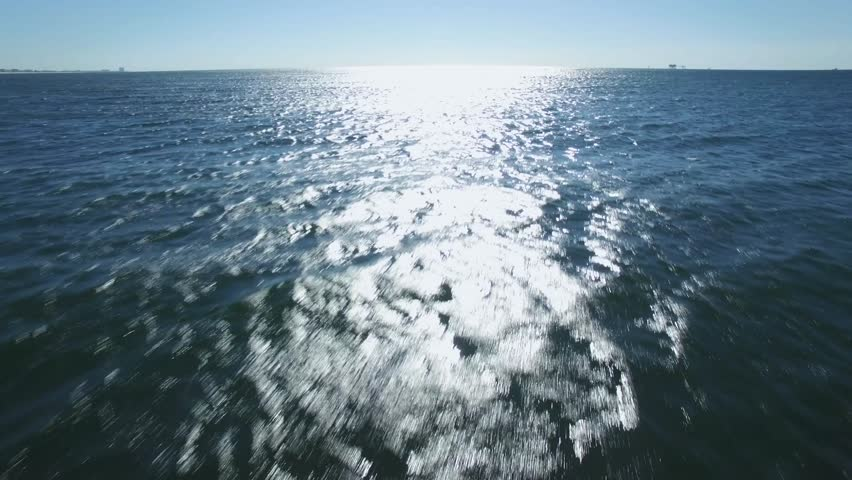 Drone/Aerial footage of the Gulf of Mexico.  Near Gulf Shores/Fort Morgan Alabama, USA