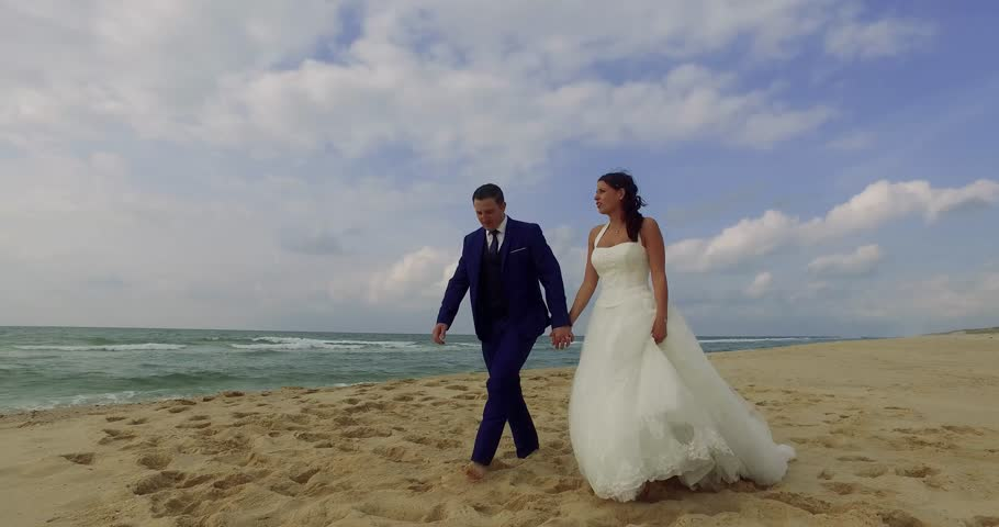 Wedding couple on the beach | Shutterstock HD Video #20447815
