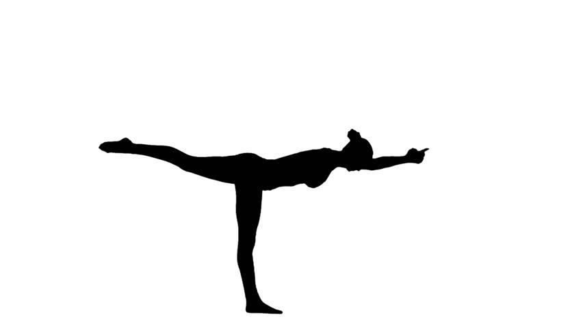 Yoga Silhouette Warrior 1