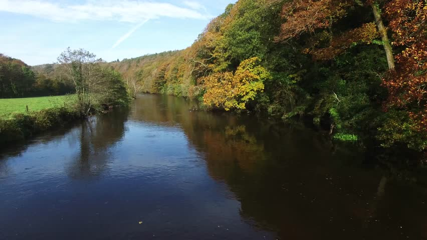 River Bandon, Inishannon, co Cork, Ireland. Beautiful early autumn day on the way to west cork. | Shutterstock HD Video #20514955