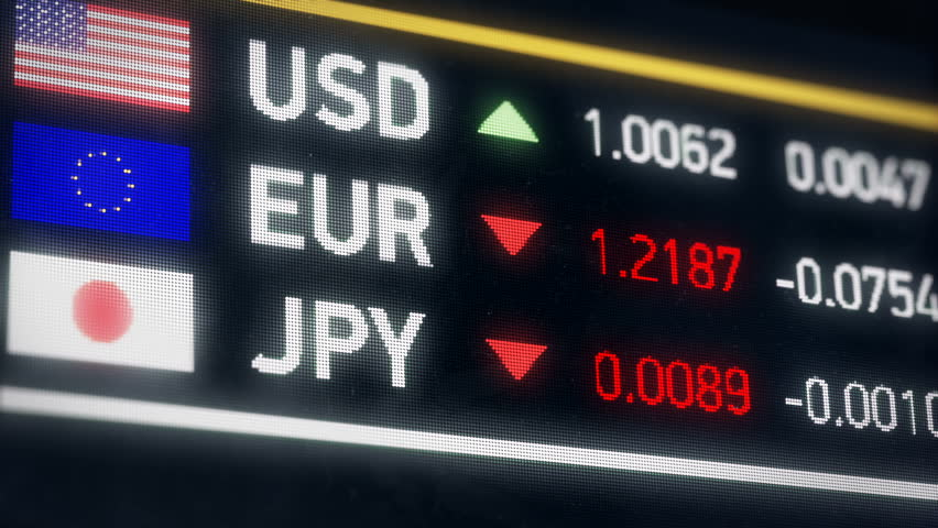 Japanese Yen, US dollar, Euro comparison, currencies falling, financial crisis. World currencies plummet down, financial crisis, stock market crash | Shutterstock HD Video #20522101