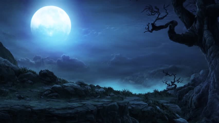 Flock Of Bats Halloween Background Moon Stock Footage Video