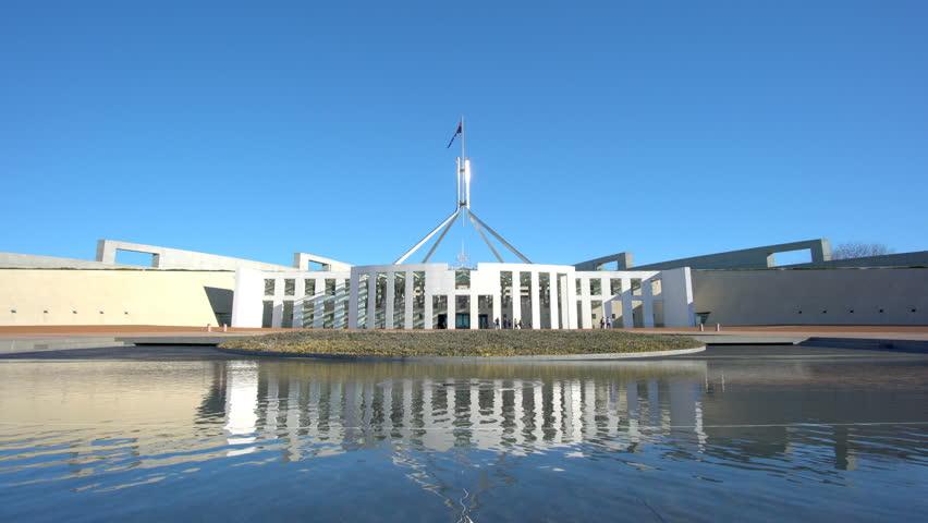 Canberra, Australia - June 28, 2016: Parliament House in Canberra, Australia