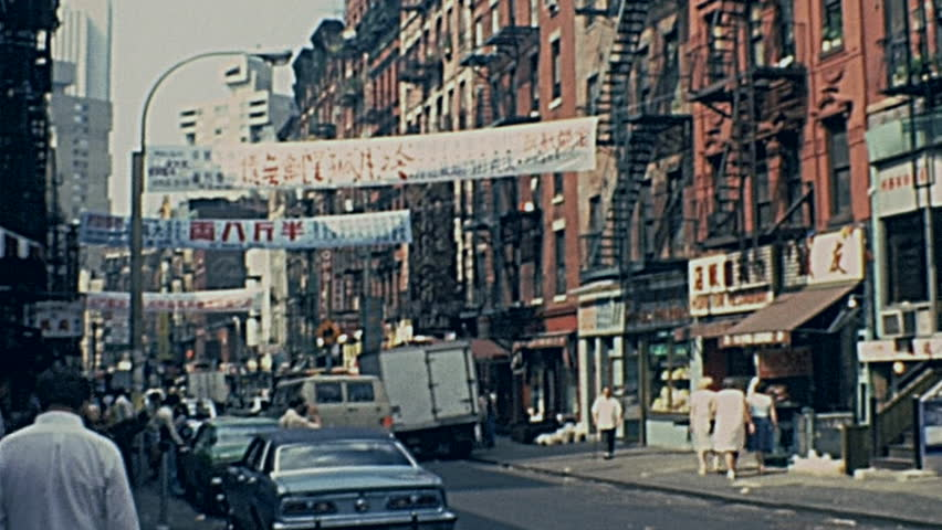 New York 1977: life in the streets of Chinatown in 1977 in New York