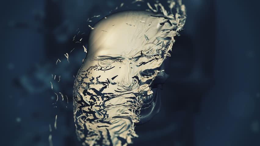 background exploding skull | Shutterstock HD Video #20584675