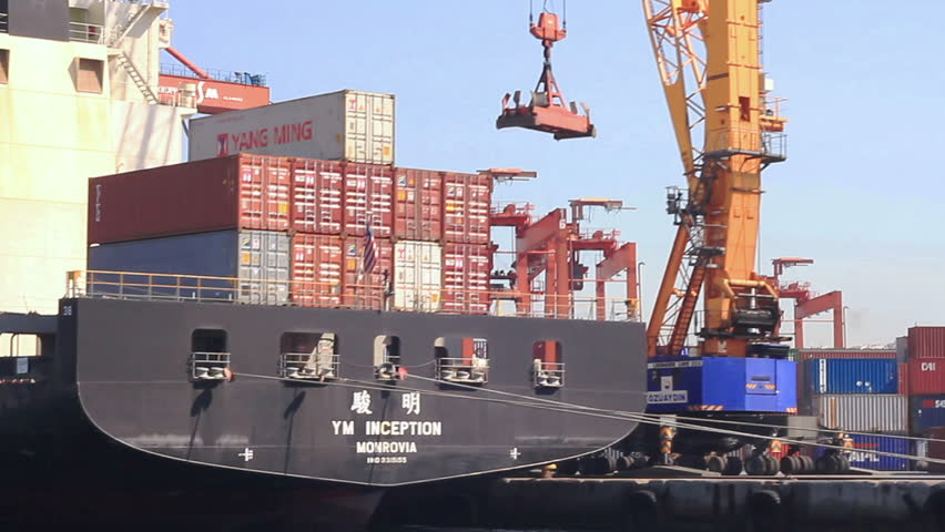 ISTANBUL - MAY 23: Container ship INCEPTION with Chinese export goods on May 23,