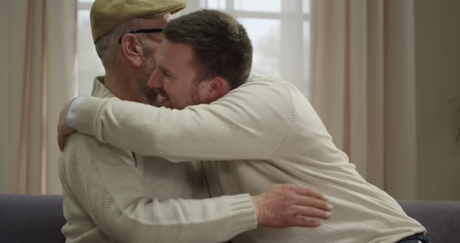 Father and san hugging. Emotional moment | Shutterstock HD Video #20597215
