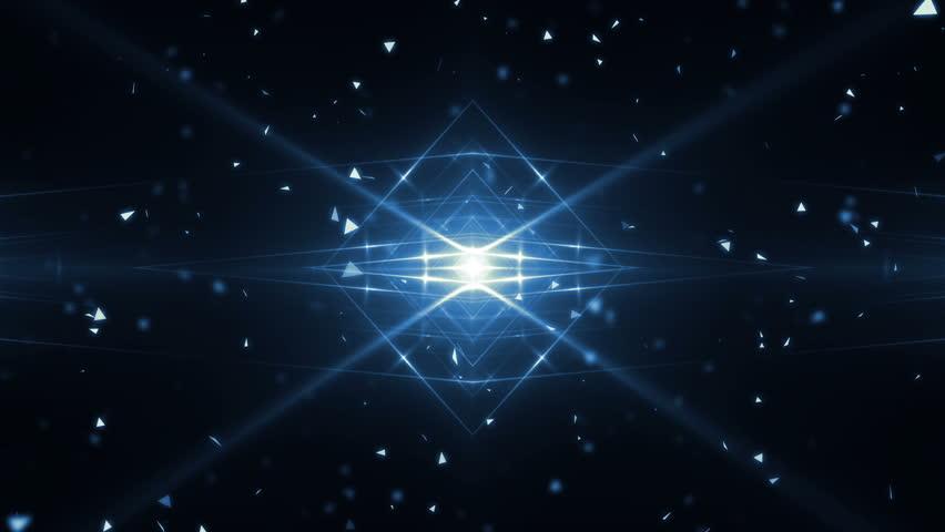 VJ Fractal blue kaleidoscopic background.Background blue motion with fractal design. Disco spectrum lights concert spot bulb. Lights Flashing Spot light. On a black background.   Shutterstock HD Video #20625565