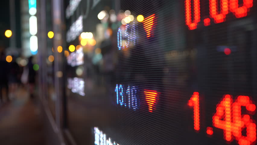 Display stock market numbers in a street | Shutterstock HD Video #20639251