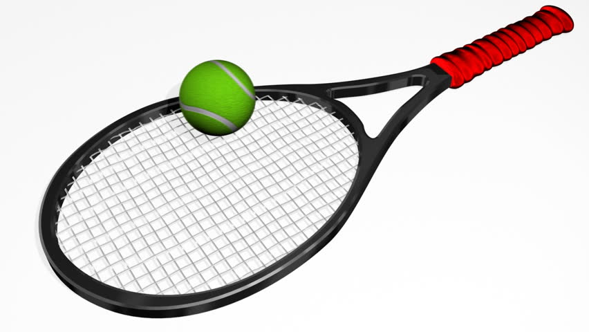 tennis racket bouncing ball  hd   stock footage video  100