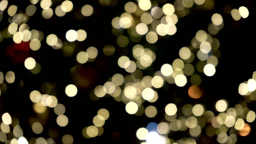 defocus scene of christmas tree lights hd stock video clip - Blinking Led Christmas Lights