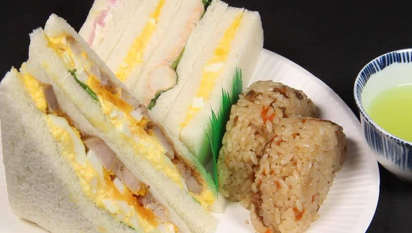 latin american cuisine fusion: pork steak, white rice,pico de