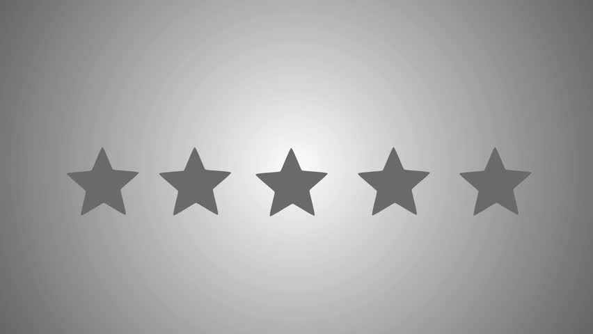 5 Star Rating Bestseller Symbol Stock Footage Video 100 Royalty