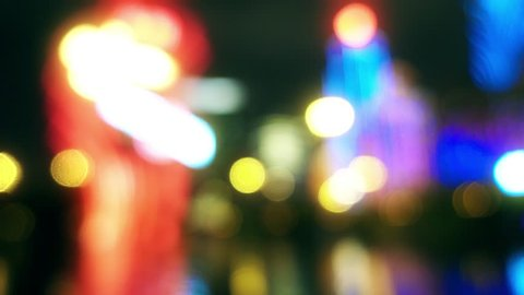 Defocused Casino Lights in Macau. Macau is the only place in China where casinos are legal.