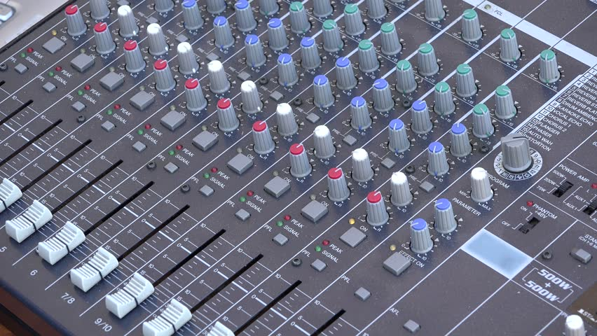 Hand adjusting sound parameters at the mixer | Shutterstock HD Video #21052045