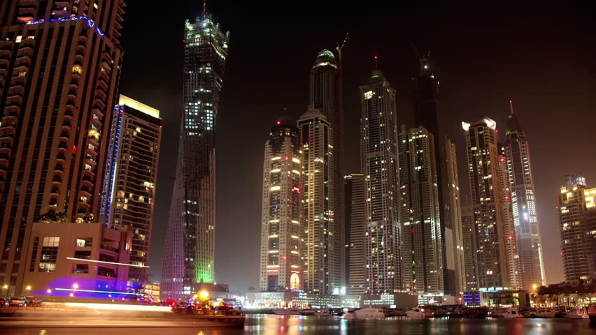 Time lapse: Fantastic Night Dubai Marina, United Arab Emirates