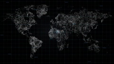 The world map connections