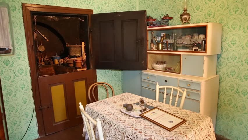 Old Kitchen Set In Ethno Stock Footage Video 100 Royalty Free