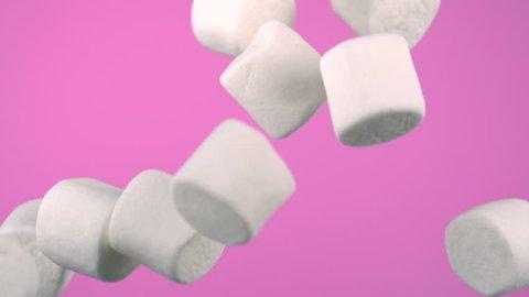 Falling marshmallows, Slow Motion