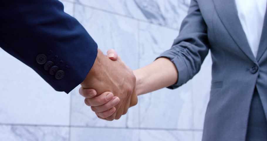 Close-Up Slow-Mo Of Hands And A Handshake Between A Man And A Woman | Shutterstock HD Video #21304795