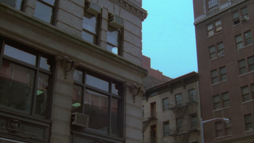 A Typical New York Style Apartment Building Establishing Shot At