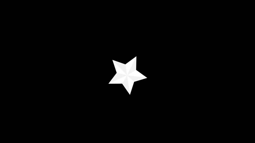 Stock Video Clip of White star on black background ...