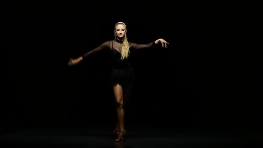 Dancing latina girl