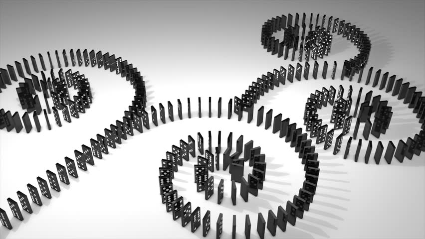 Dominoes effect 3d animation.