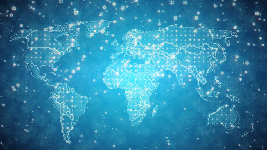 World map background cities connections this project includes a blue snowy looped background world map pack winter animated background a looped animation of gumiabroncs Images