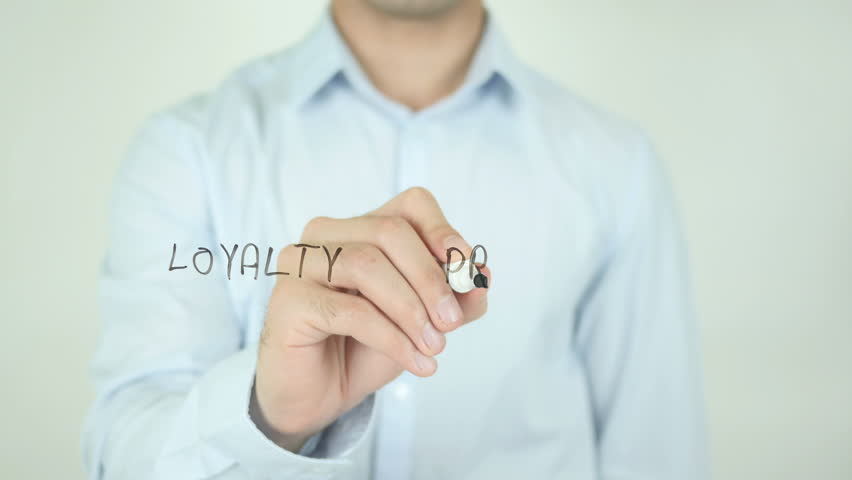 Loyalty Program, Writing On Transparent Screen