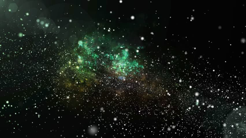3D animation of color changing galaxy and nebula with shining star light stardust. Colorful galaxy floating with stardust in unlimited space universe concept in 4k ultra hd.