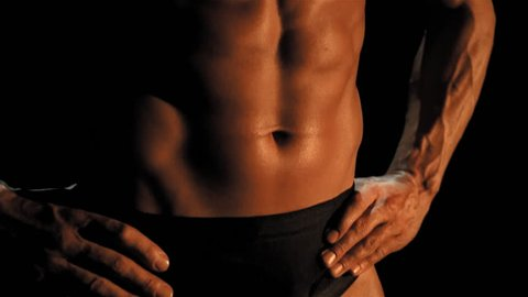 Tilt up male torso