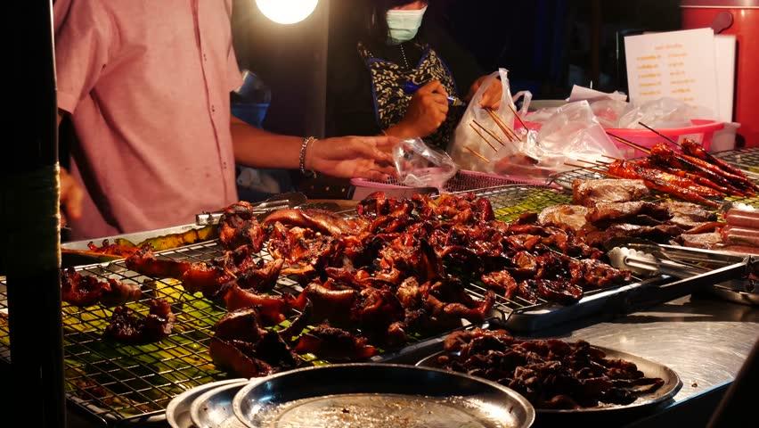 Thai Street Food Sellers On Stock Footage Video 100 Royalty Free