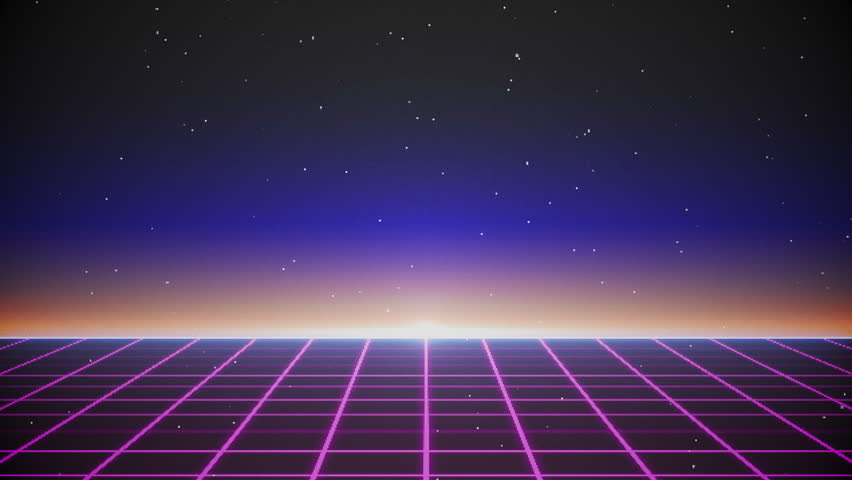 Stock video of retro futuristic flight on the grid - Space 80s wallpaper ...