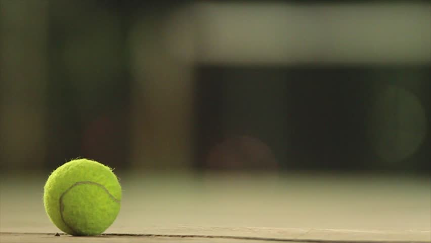 Tennis ball dip on the ground | Shutterstock HD Video #21588475