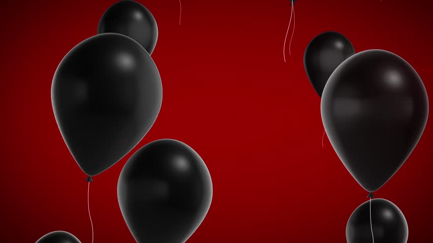 Black shiny balloons on a red background. Black Friday footage background.   Shutterstock HD Video #21628393