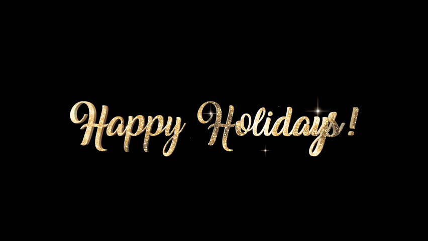Happy Holidays Title + Alpha Channel
