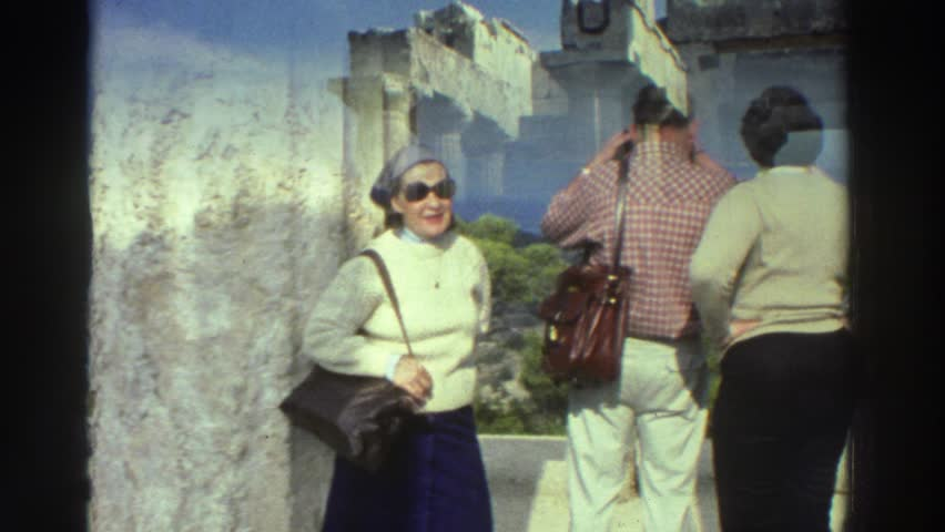 GREECE 1976: tourists who photograph the scenery and observe the landscape carefree #21749125