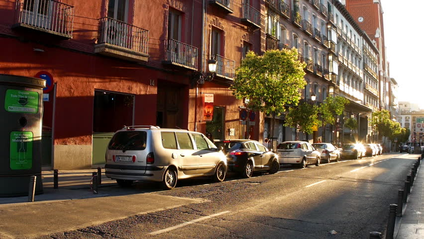 madrid spain september 9 view of the traffic in the sunset on september - Brick Apartment 2015